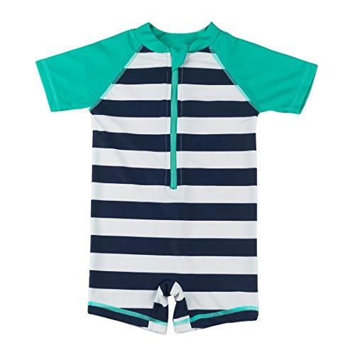 Kids Boy Girl Swimsuit One Piece Surfing Suits Beach Swimwear Rash Guard, Green , 6 -12 months