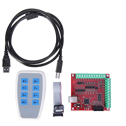 Hoseten Placa de Controlador de Motor Paso a Paso de 100 kHz, Tarjeta controladora USB CNC de Enlace de 4 Ejes, para Herramienta de sonda automática para Grabado CNC
