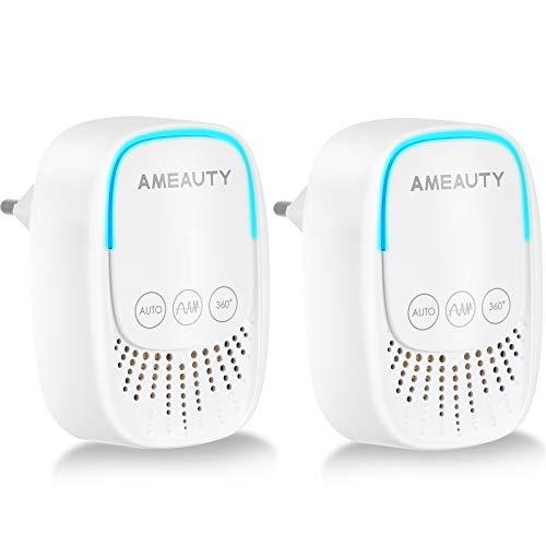 Ameauty Repellente ad Ultrasuoni per Topi Zanzare preciso Controllo Insetti, Formiche, Acari, Ragni, Pulci, Scarafaggi, Ratti, Parassiti(2pack Bianco)