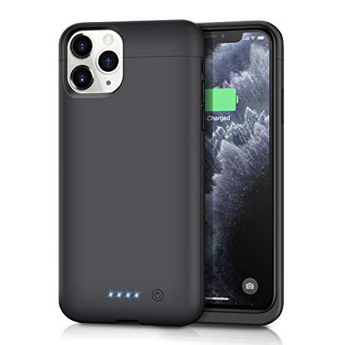 iPhone11 Pro 対応 バッテリーケース 【5500mah】 バッテリー内蔵ケース iPhone11 Pro battery case 薄型 iPhone 11 Pro 対応 充電ケース 大容量 充電器付きiPhone11 Proケース 軽量 ブラック