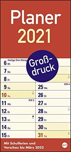 Großdruck Planer Kalender 2021