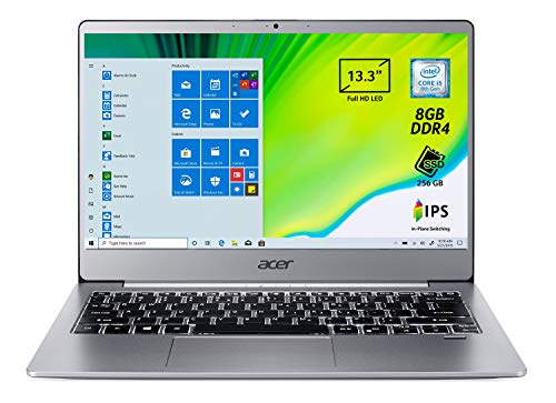 "Acer Swift 3 SF313-51-56DU Notebook con Processore Intel Core i5-8250U, RAM da 8 GB, SSD 256 GB, Display 13.3"" Full HD IPS LED LCD, Scheda Grafica Intel HD 620, LTE, Windows 10 Home, Silver"