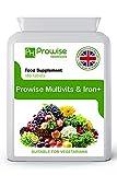 Multivitamines et fer 180 comprimés (dose de 6 mois) Soutien immunitaire - Supplément multivitaminé par jour - Fabriqué au Royaume-Uni selon une qualité garantie par les BPF