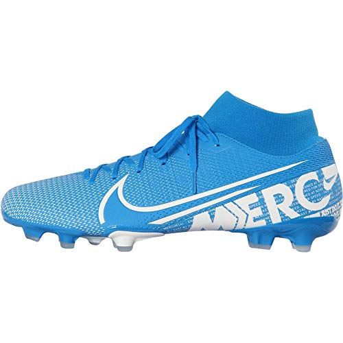 Nike Superfly 7 Academy FG/MG, Zapatillas de Fútbol Unisex Adulto, Multicolor (Blue Hero/White/Obsidian 414), 41 EU