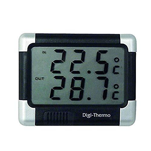 Carpoint 1121212 Thermomètre Intérieur/Extérieur Noir/Argent