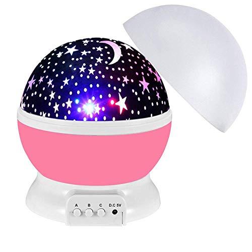 Proyector De Luz Nocturna Para Niños, Proyector Estrellado Giratorio Colorido LED, El Mejor Regalo De Luz Nocturna De Sueño Para Niños
