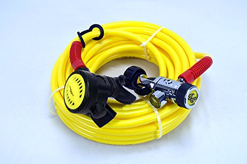 DXDiver Hookah Kayak Diving Regulator Hose Kit DxD First and Second Stage Reg Button Gauge Long Hose Ideal for Boat Cleaning Dock Maintenance and Scuba Diving (20)