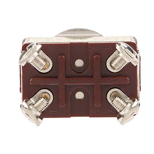 Interruptor de palanca, 1S - 29H 59Min 59S Fuerte capacidad antiinterferencia 250Vac 16A 5Pcs Interruptor de palanca de 2 posiciones, para ventilación, irrigación Estufas industriales