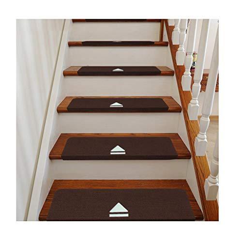 Tappeto per scale Scale tappeto Set da 10 pezzi 70x22 cm Tappeto luminoso rettangolare | lavabile | Autoportante | battistrada antiscivolo | - tappeto / pad al piano di sopra Tinta unita, 5 colori
