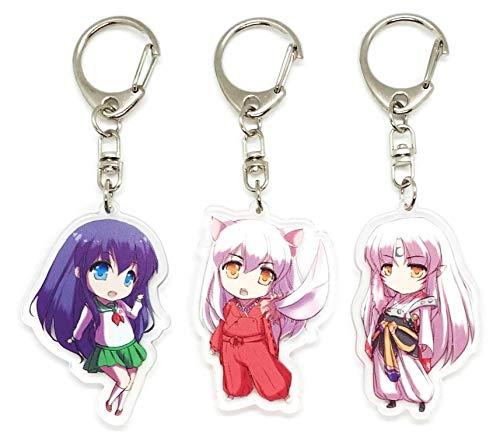 EBTY-Dreams Inc. - Set of 3 InuYasha Anime Acrylic Keychain Sesshoumaru, Inuyasha, Kagome Higurashi