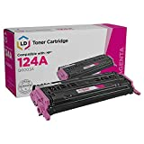 LD Remanufactured Toner Cartridge Replacement for HP 124A Q6003A (Magenta)