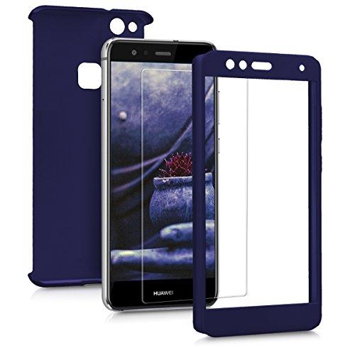 kwmobile Carcasa Compatible con Huawei P10 Lite - Funda Protectora con Protector de Pantalla - Cover con Protector Duro