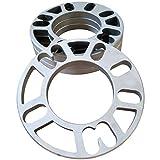 ZHTEAPR 4pcs Universal Wheel Spacers Adapters PCD 4x98 4x100 4x108 4x110 4x112 4x114.3 4x120 4x4.5 5x100 5x110 5x108 5x112 5x114.3 5x120 5x4.5 (5mm Thick)
