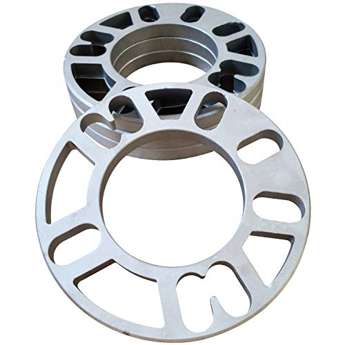 ZHTEAPR 4pc Universal Wheel Spacers Adapters for Most 4 & 5 Lug Vehicle PCD 4x98 4x100 4x108 4x110 4x112 4x114.3 4x120 4x4.5 5x100 5x110 5x108 5x112 5x114.3 5x120 5x4.5 (8mm Thick)