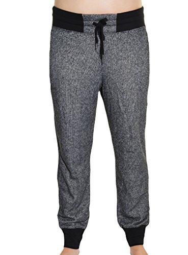 DKNY Jeans Womens Cuffed Lounge Pants M Black & Dark Gray