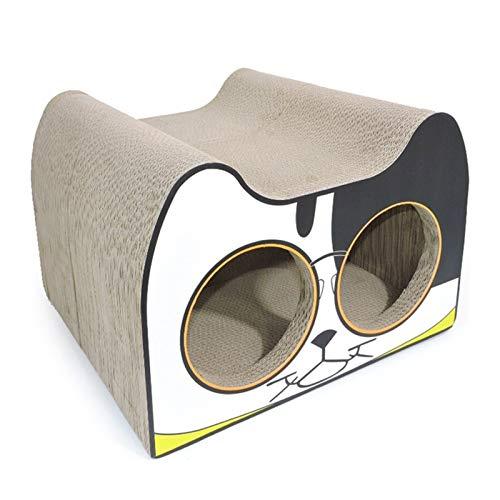 Mascota Waterloo , En forma de gato de juguete del gato del gato de papel corrugado Rascar, resistente al desgaste Claw Placa de lujo del perro del gato medianas y pequeñas mascotas Villa Suministros