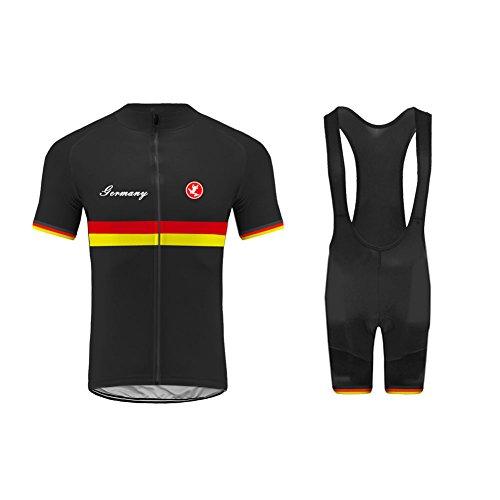 Uglyfrog Bike Wear Radtrikot Herren Kurzarm, Atmungsaktiv Radsport Bekleidung und Radhose mit Sitzpolster für MTB