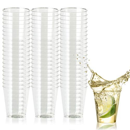 500 Multi-uso Vasos de Chupito de Plástico Duro, Transparente (60 ml) -...