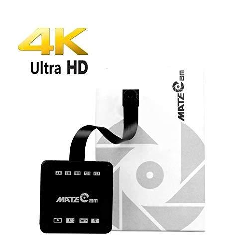 4k Super HD WiFi Mini Kamera, Tragbare Kleine Wireless Überwachungskamera, Mikro Nanny Cam mit Bewegungserkennung Compact Sicherheit Kamera für Innen und Aussen (4k Camera+Metal Shell+Remote+Battery)