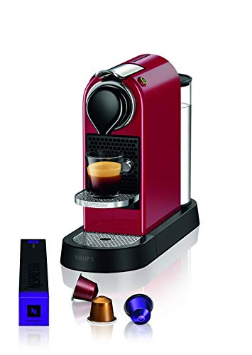 Krups Nespresso XN7415 New CitiZ Kaffeekapselmaschine (1260 Watt, 19 bar Pumpendruck, Wassertankkapazität: 1 Liter) Rot (Spanische Version)