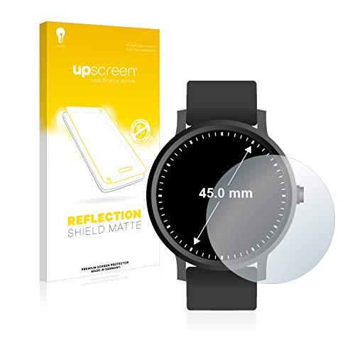 upscreen Entspiegelungs-Schutzfolie kompatibel mit Armbanduhren (Kreisr&, Durchmesser: 45 mm) – Anti-Reflex Bildschirmschutz-Folie Matt
