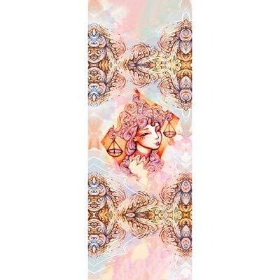 N / A 183cm * 68cm * 0.2mm 12 Zodiaco Impreso Toalla de Yoga Alfombrilla Absorbente de Sudor Antideslizante Fácil Limpieza Portativa Toalla de Yoga 183x68x0.02CM