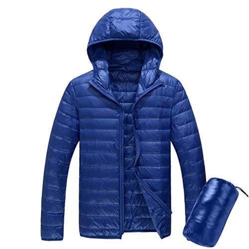 Feytuo Herren Daunenjacke Leicht mit Kapuze Kurz Slim Fit Warme Fashion Sweatshirt Jacke Ultraleichte Outdoor Einfarbig Mantel Winter Angebote Freizeit Mantel Cool Mode Mantel Sale Schwarz Elegant