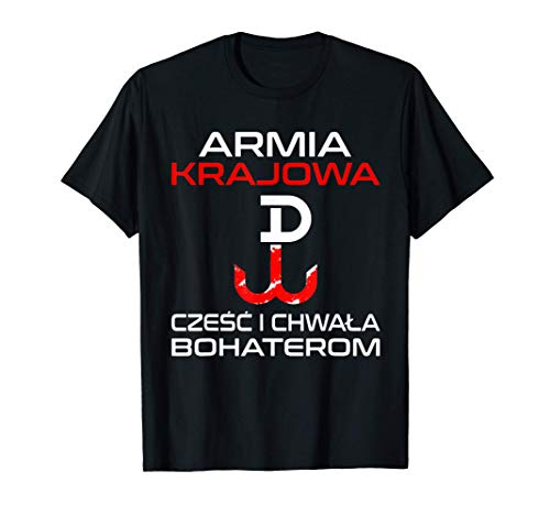 Armia Krajowa Polen Polish Polski Warschau Geschenk T-Shirt