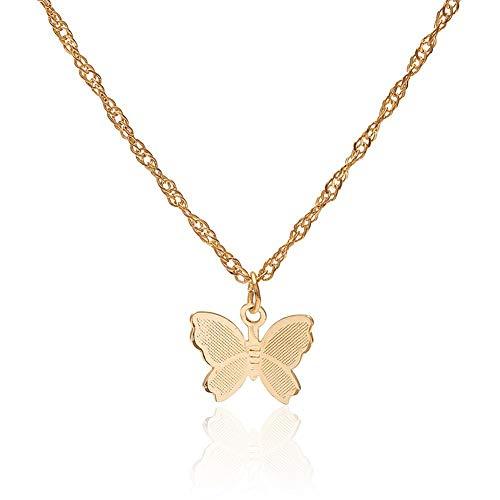 precauti Vintage metalen ketting vlinder hanger liefde paar hanger sieraden cadeau choker ketting kraag hanger kwast ketting voor vrouwen dames Valentijnsdag