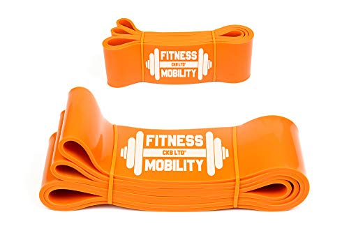 CKB LTD Heavy Resistance Bands ORANGE 8.3 cm 70-81kg SINGLE BAND For...