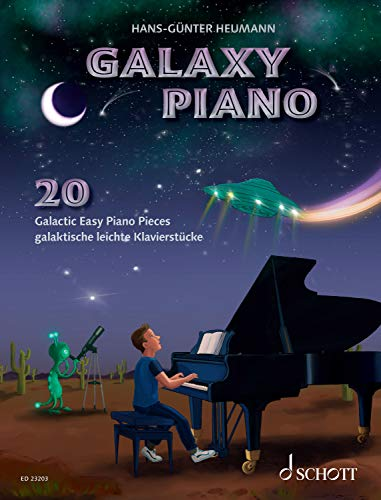Galaxy Piano: 20 Galactic Easy Piano Pieces (English Edition)
