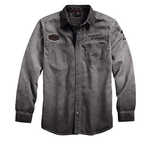 HARLEY-DAVIDSON Iron Block Long Sleeve Shirt Hemd, 99020-17VM, M