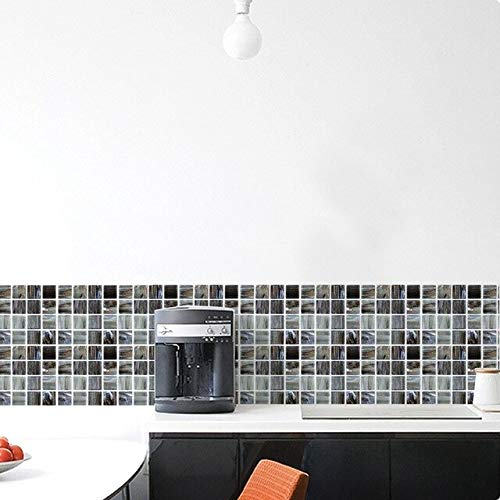 LSMYE Wasserdichte arabische Fliesen Aufkleber Badezimmer Küche selbstklebende Wandtattoos Schrank Herd Wanddekor kratzfeste Wandtattoos H 6 Stück/Set