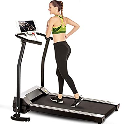 Electric Treadmill, Ultra-Quiet, Portable Exercise Running Machine for Small Spaces with LCD Screen