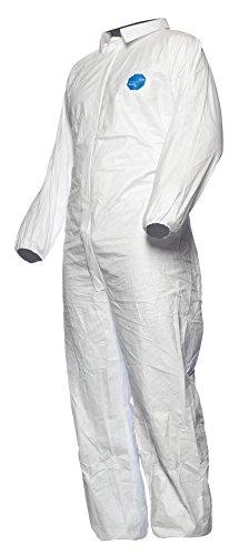 DuPont Tyvek 500 Industry - Ropa de Protección Química, Categoría III, tipo 5 y 6, Blanco, Talla L