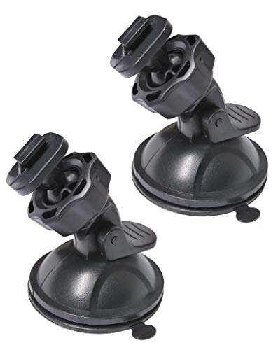 Suction Cup Mount for Yi Dash Cam 2.7', Uniden Dashcam, Black Box G1w Dash Camera etc, Hold Tightly Removeable Easy to Install and Stand Heat, 2 Pcs