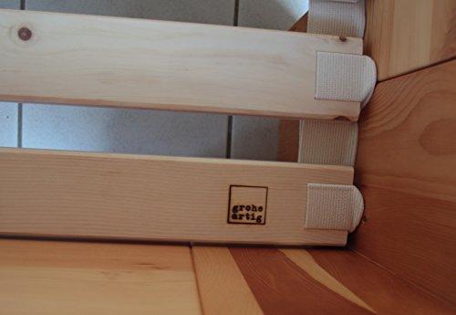grohsartig | Superstabiler Rollrost aus massiver Zirbe Arve Zirbenholz 90 x 200cm | Bettrost mit Baumwollband