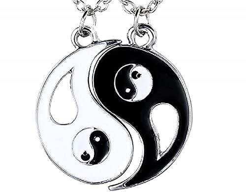 LUIDILUC Collares Yin y Yang para 2 bienes mal collares de la amistad unisex Best Friends