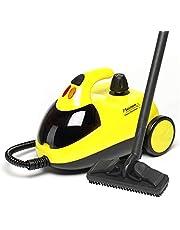 Bestron ångdammsugare med tillbehörssats och barnsäkring, kapacitet: 1,5 l, actionradie: 10 m, 4 bar, 1 500 watt, gul