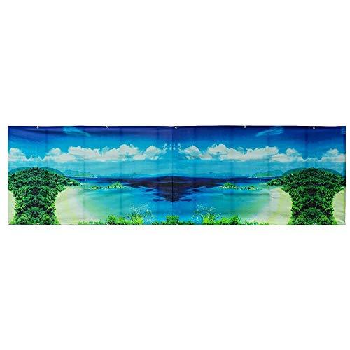 YUDEYU Tela De Sombra Impermeable Balcón De Protección Solar Cerca A Prueba De Viento Anti-privacidad Los 500 * 90cm Cuerda De PP