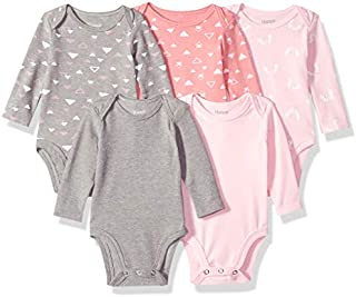 Hanes Ultimate Baby Flexy 5 Pack Long Sleeve Bodysuits