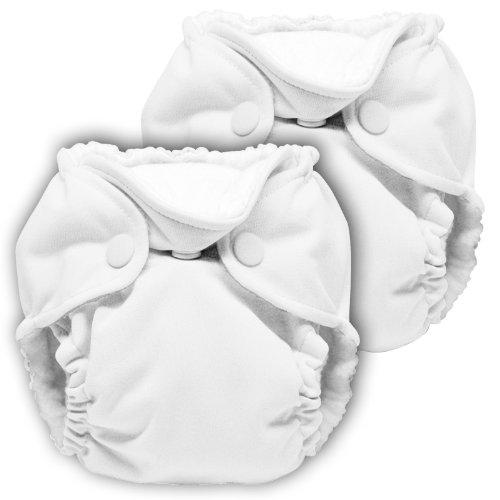 Lil Joey - Pannolino di stoffa All-in-One, 2 pz, colore: Bianco