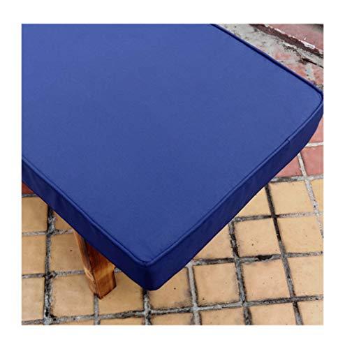 Bench Cushion Waterproof Outdoor Indoor Long Bench Cushion Pillow Pad Window Seat Cushions Garden Pallet Cushions Patio Furniture Cushions Garden Bench Outdoor Pad-Navy Blue 100×30×5cm(39×12×2in)
