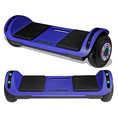 TPS Hoverboard Self Balancing Scooter with Speaker LED Lights Flashing Wheels for Kids and Adults Hover Board - UL Certified (Blue)