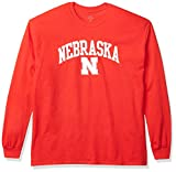 Elite Fan Shop Nebraska Cornhuskers Men's Team Color Long Sleeve Shirt, X-Large