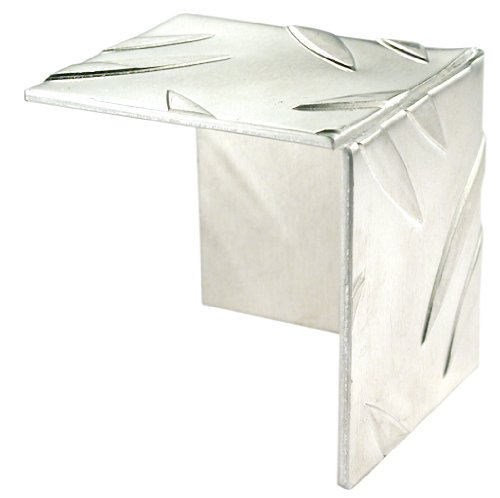 GAH-Alberts 467685 Eckschutz | Riffel-Prägung | Aluminium, natur | 41,2 x 41,2 mm