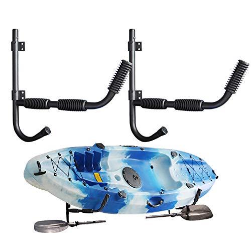 1 Par De Soportes para Kayak, Acero Resistente Bastidores De Kayak Rodamiento De Carga De 150 LB, Rack De Almacenamiento De Montaje En Pared para Almacenamiento Kayac Tabla De Surf Y Vela