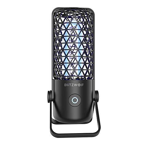 UV Lampe, BlitzWolf UV-Desinfektionslampe Tragbare UV-Sterilisationslampe UV-keimtötende Lampe Antibakterielle Rate von 99,99%, UV-Ozon 360° Desinfektion (Schwarz)