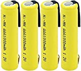 Lithium Ion Rechargeable Battery Cell for Ni Mh AAA Battery 1.2 V 1000Mah Rechargeable Batteries Battery for Mp3 Keyboard Power 4Pcs