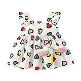 Covermason Mädchen Kleid Kinderkleidung Babykleidung Ärmellos Rüschenärmel Bowknot Prinzessin...